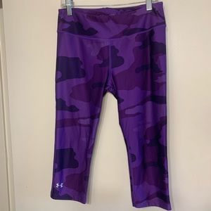 Under Armour | Purple Camo Capri Workout Leggings